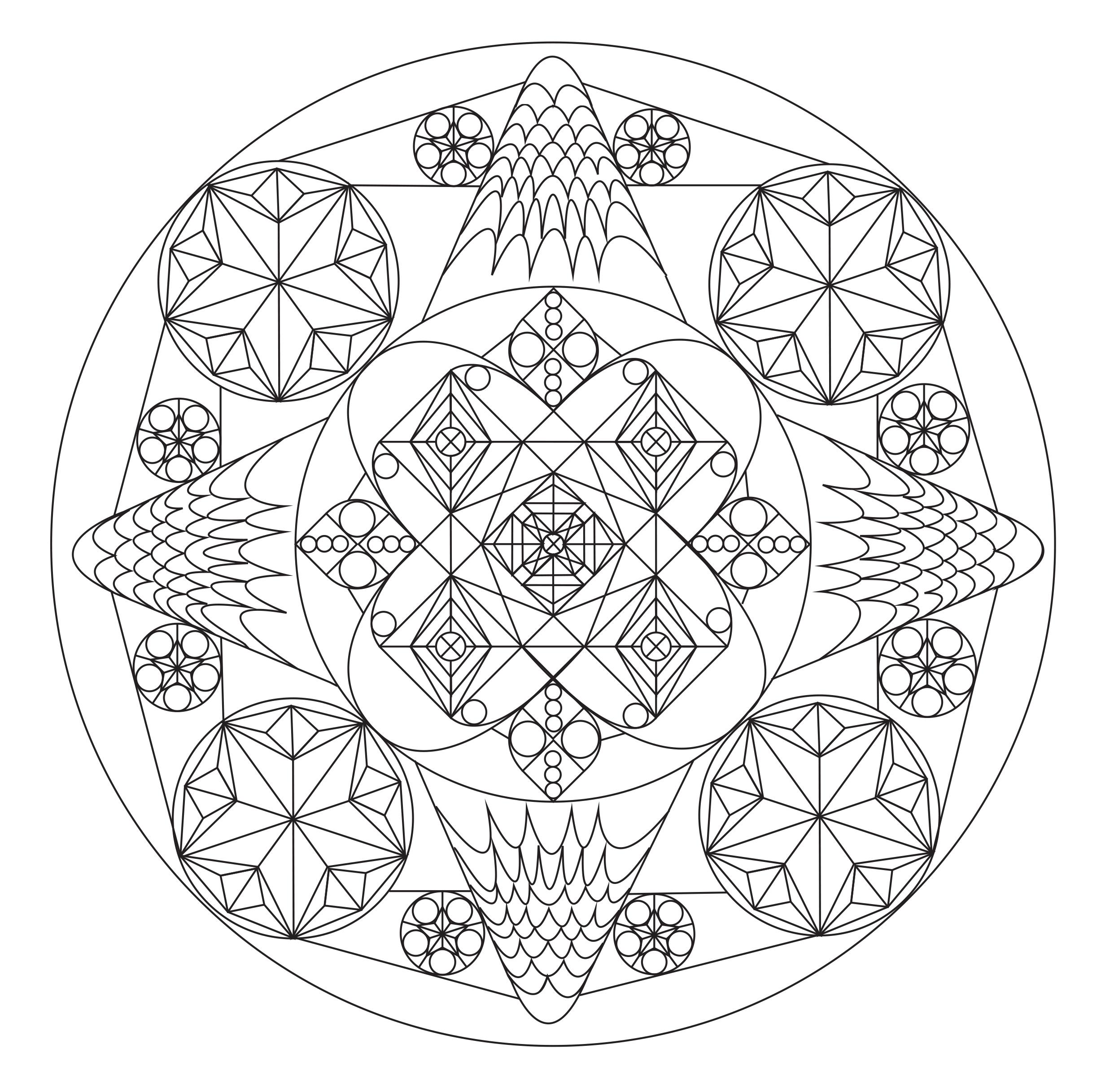 Mandala n 1 mandalas coloriages difficiles pour adultes - Mandalas a colorier pour adultes ...
