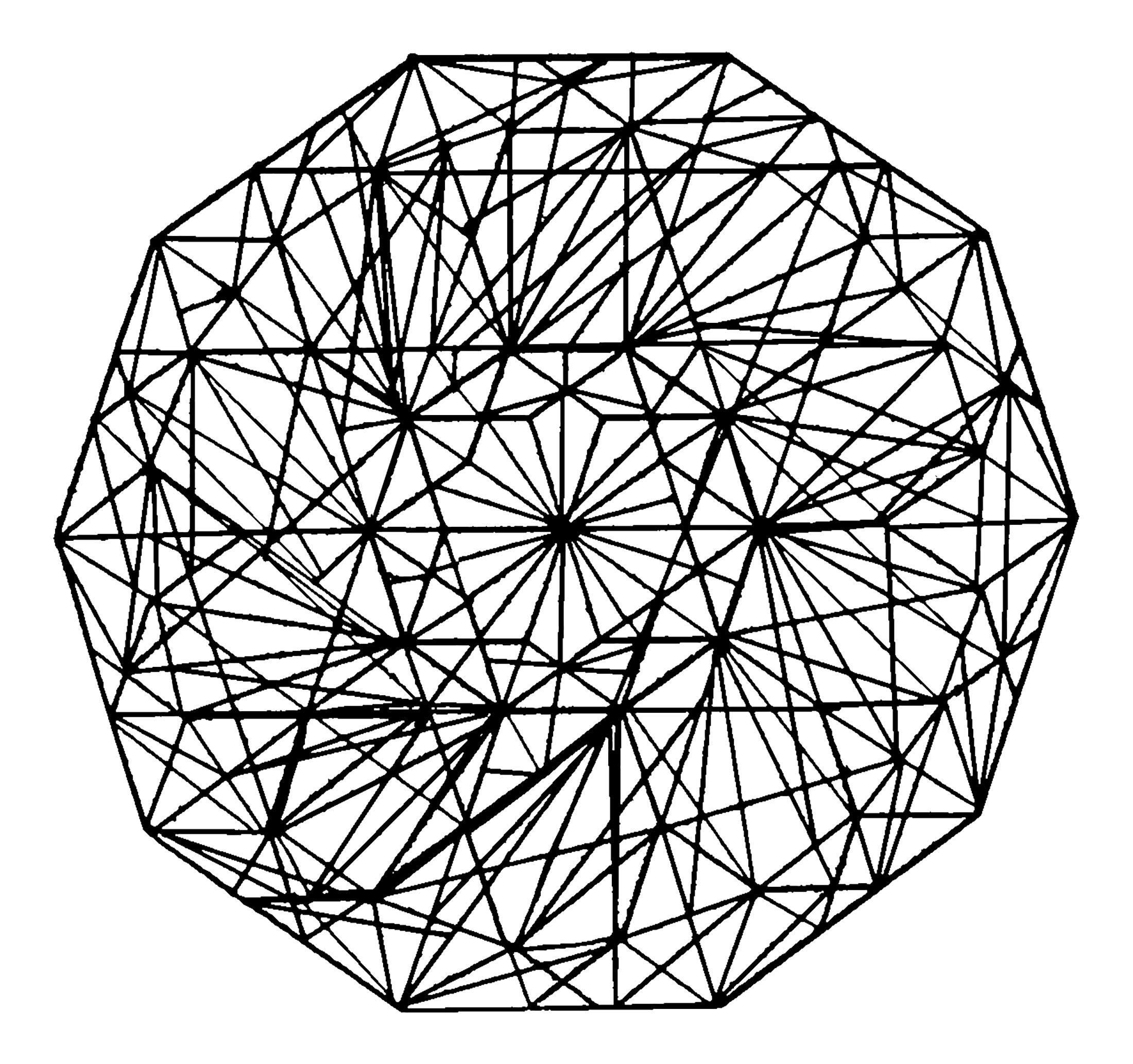Lignes épaisses constituant un Mandala