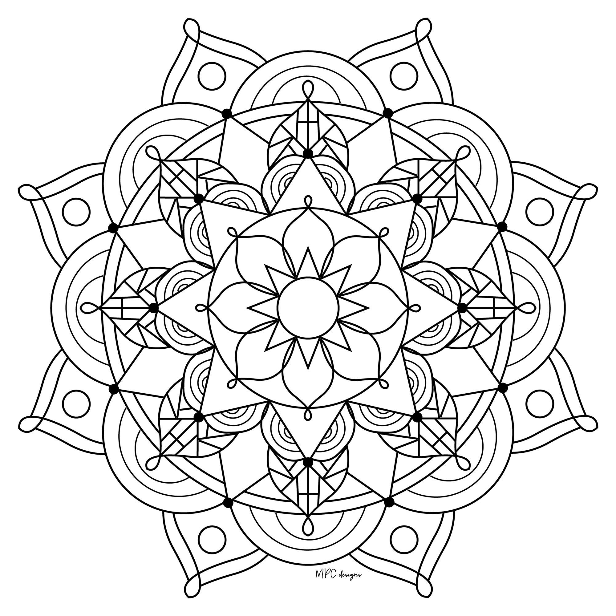 Coloriage Adulte Mandala A Imprimer.Mandala Mpc Design 10 Mandalas Coloriages Difficiles