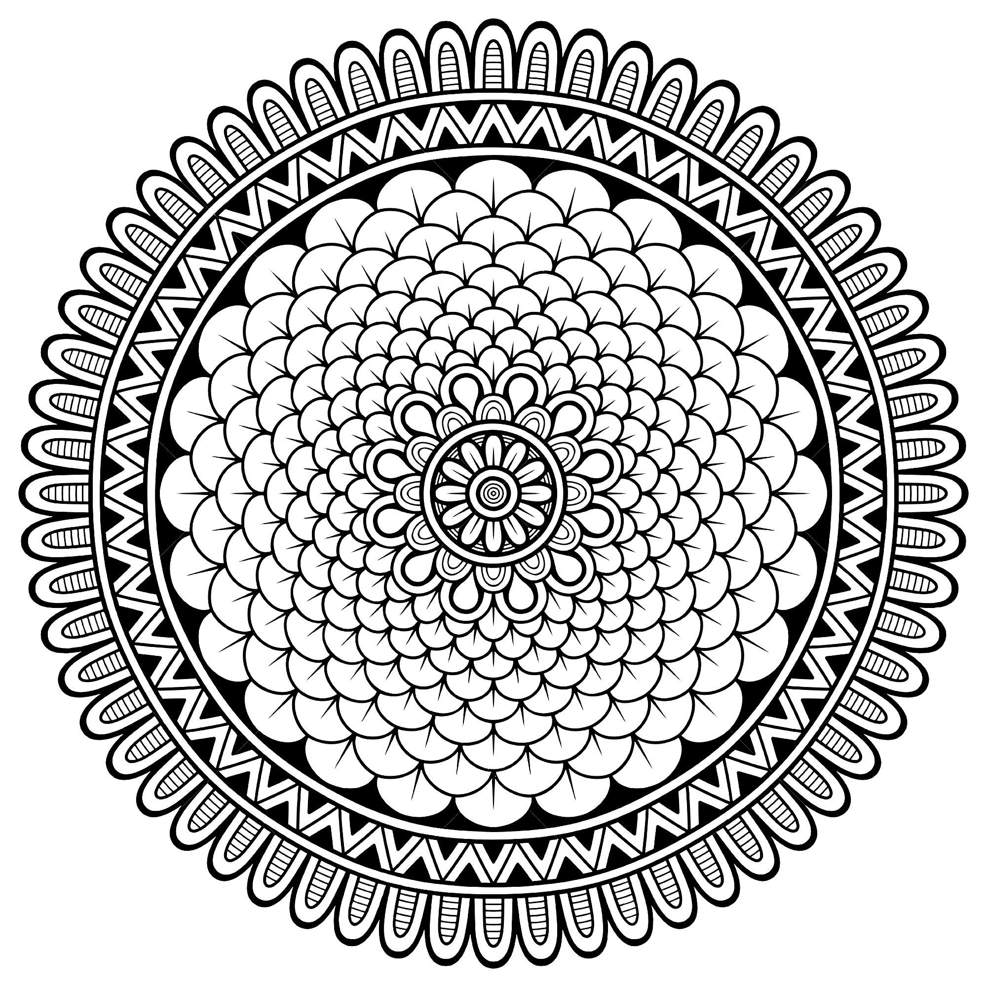 Mandala Petits Petales Mandalas Coloriages Difficiles