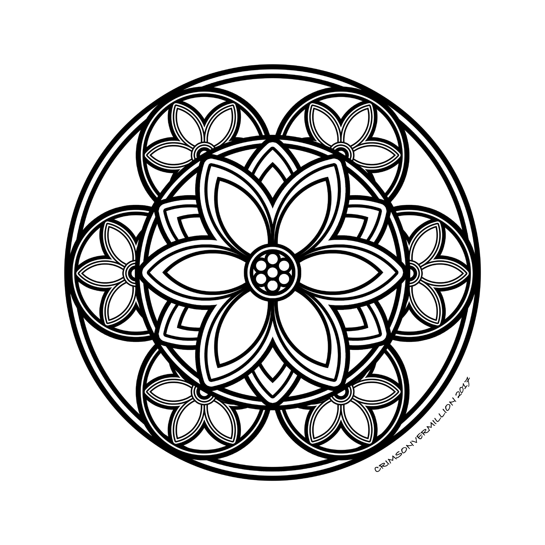 Les 6 pétales extérieurs de ce mandala vous procure une force totale.