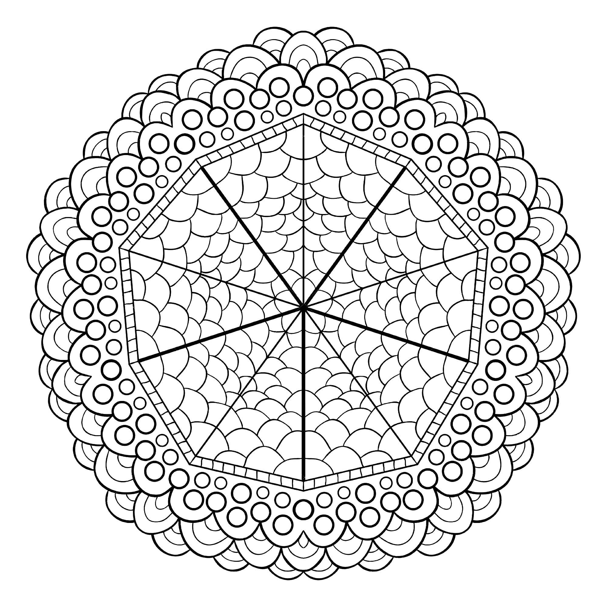 Magnifique Mandala - Mandalas - Coloriages difficiles pour ...