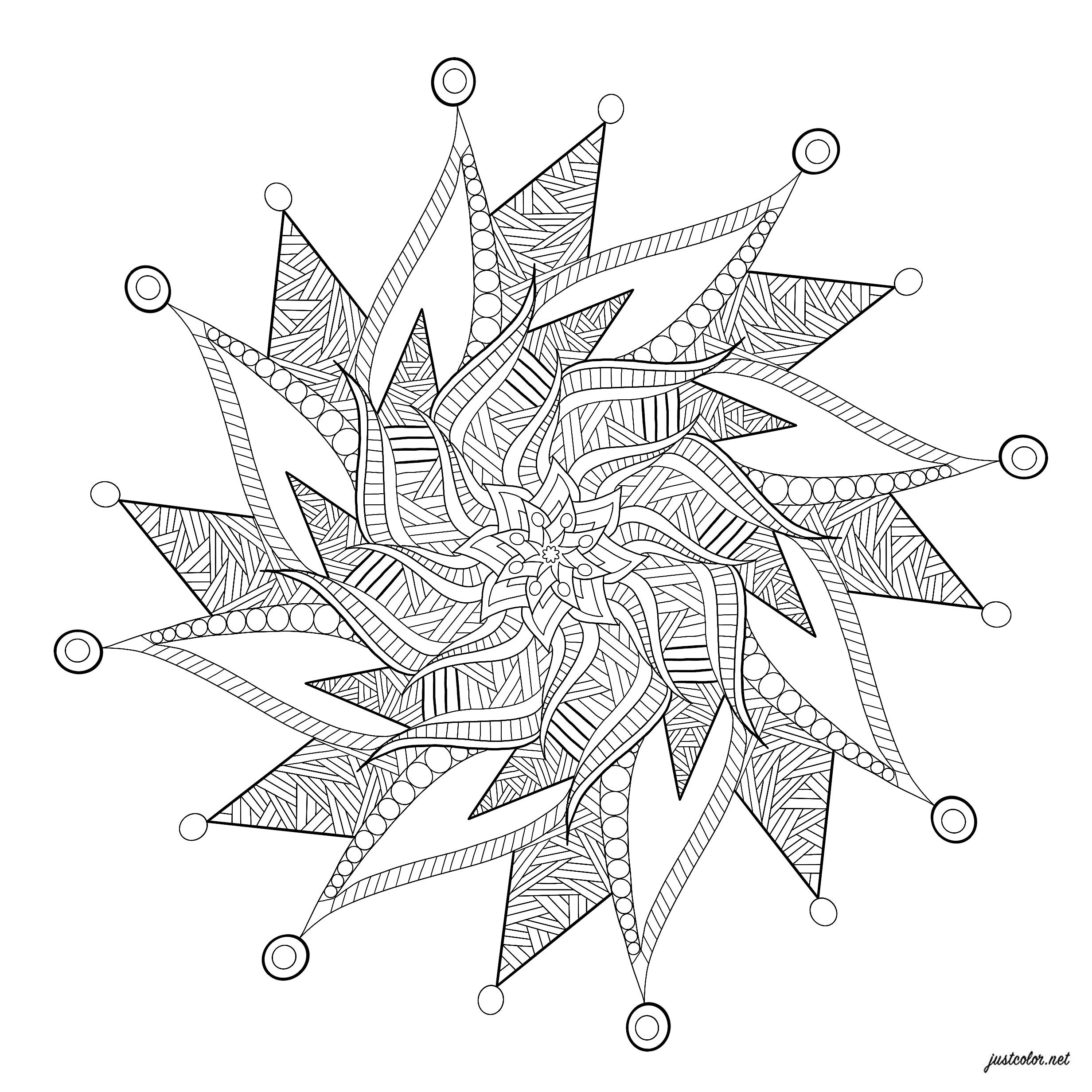 Un Mandala apaisant avec des détails relaxant