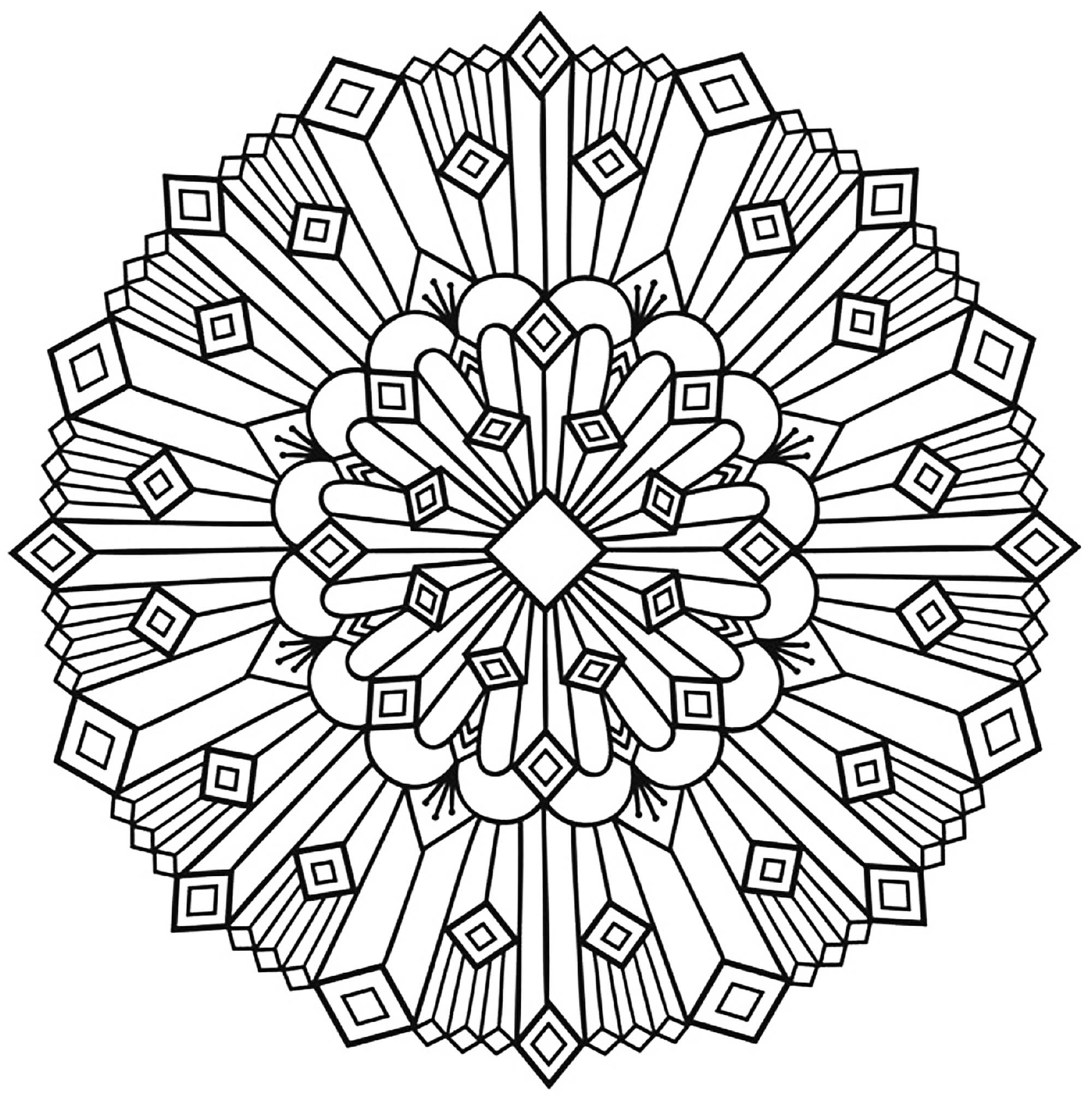 Mandala art deco simple mandalas coloriages difficiles - Coloriage art ...