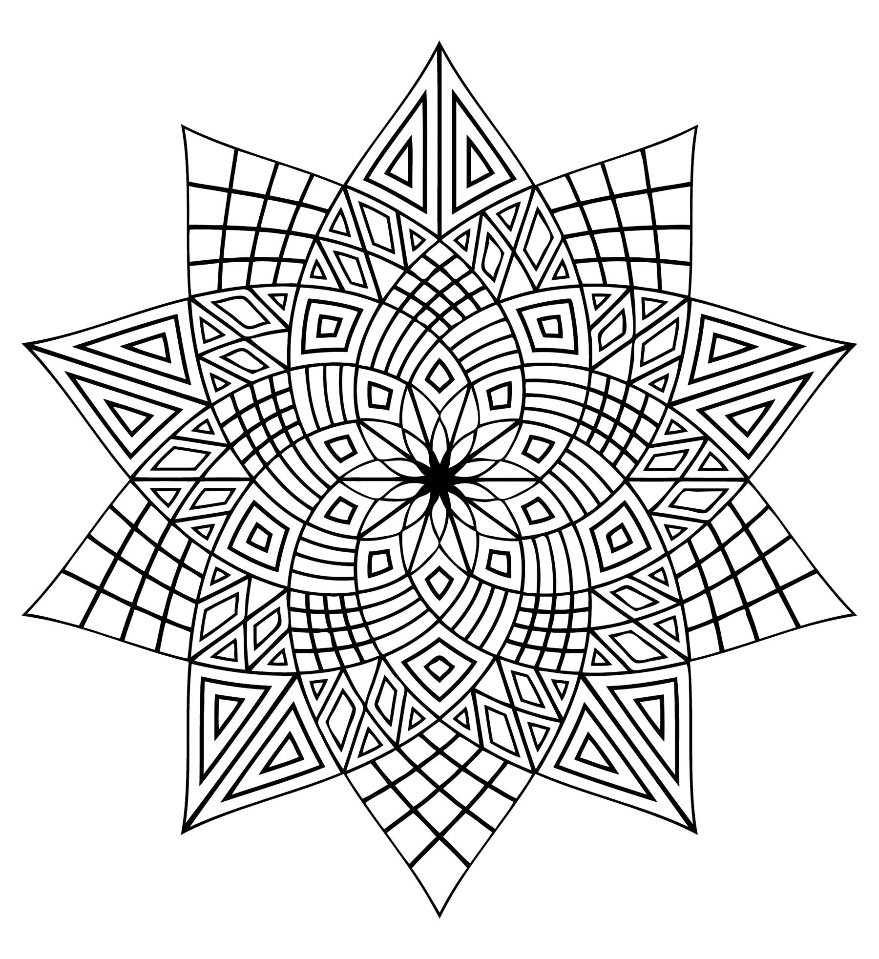 Mandala difficile 3