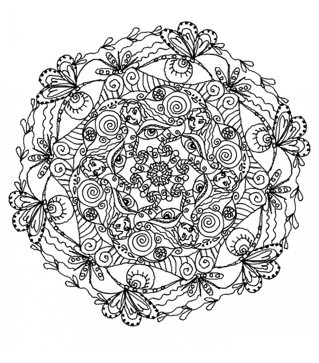 Mandala 5 Mandalas Coloriages Difficiles Pour Adultes