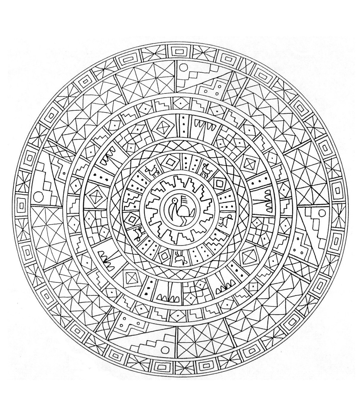 Mandala difficile 6