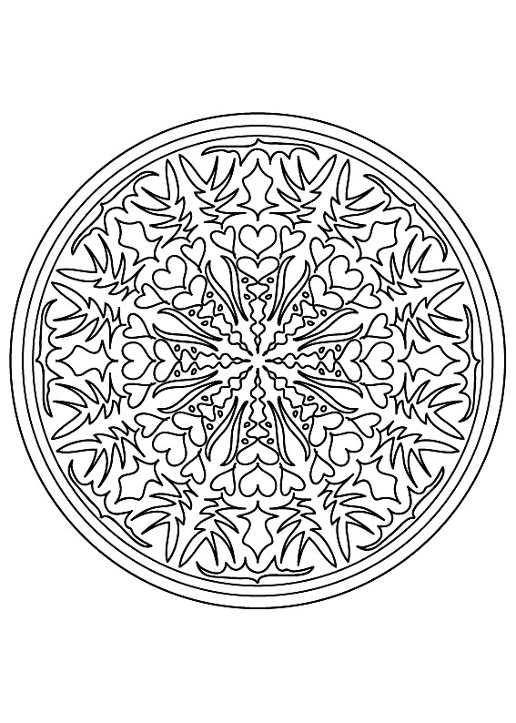 Mandala 9 mandalas coloriages difficiles pour adultes - Coloriage adulte difficile ...