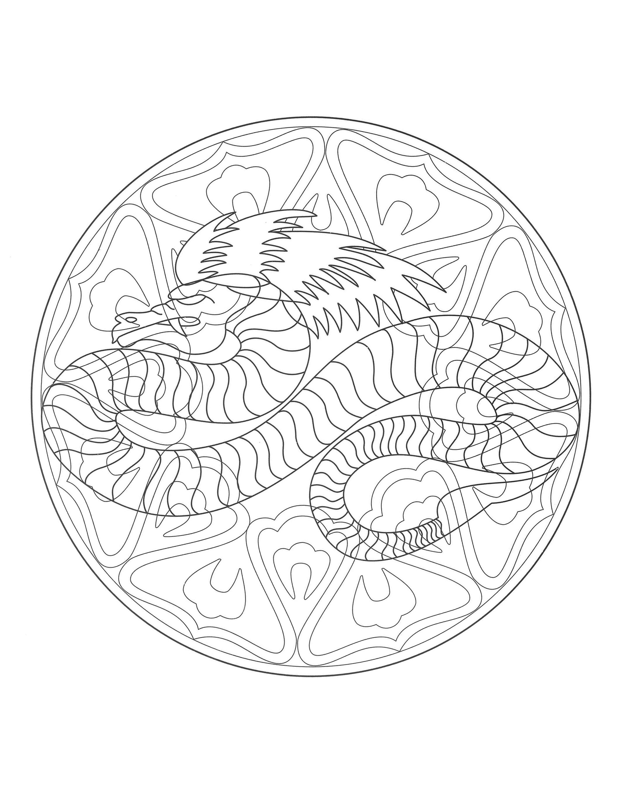 Mandala dragon 4