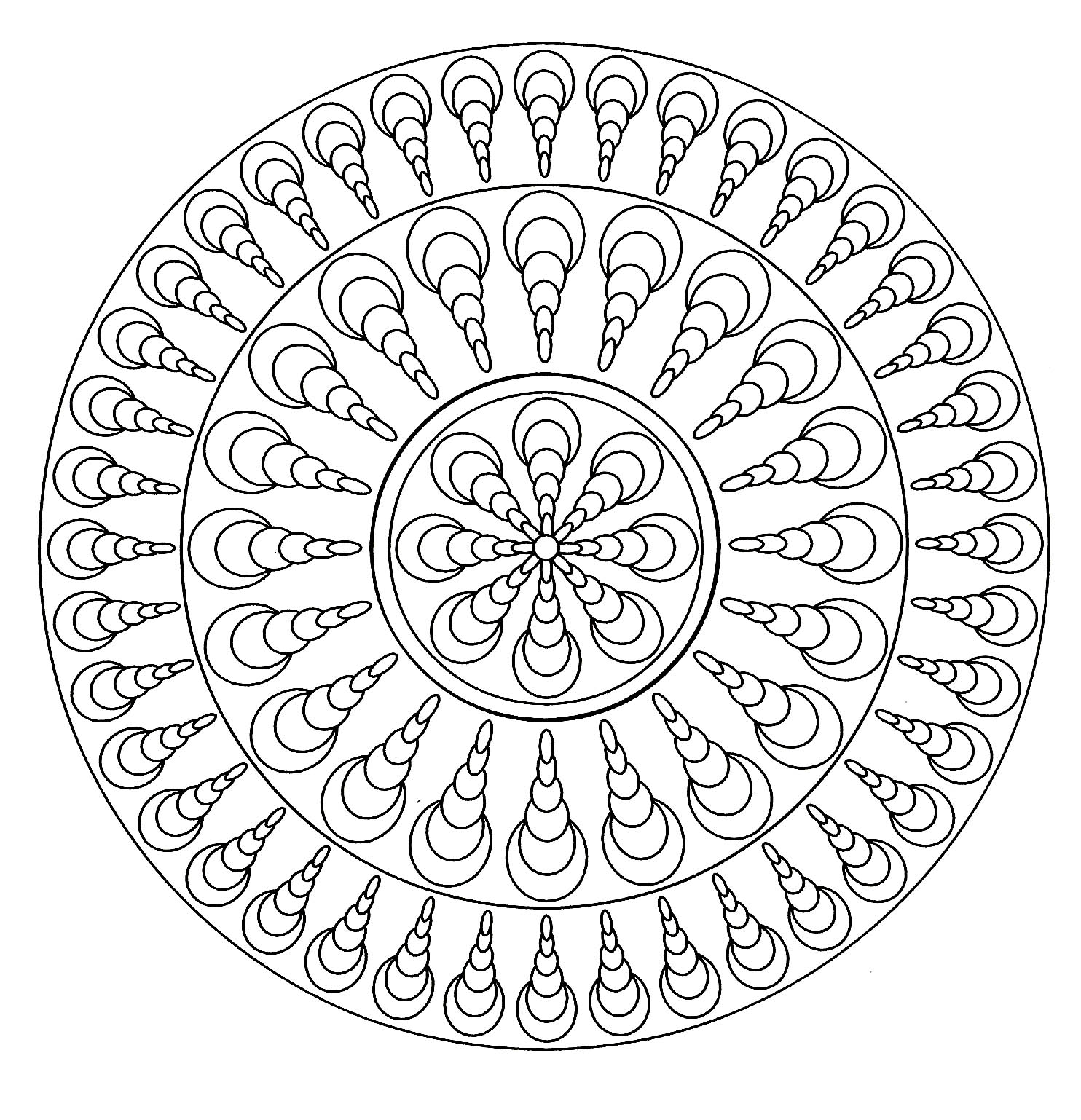 mandala facile 4 mandalas coloriages difficiles pour adultes. Black Bedroom Furniture Sets. Home Design Ideas