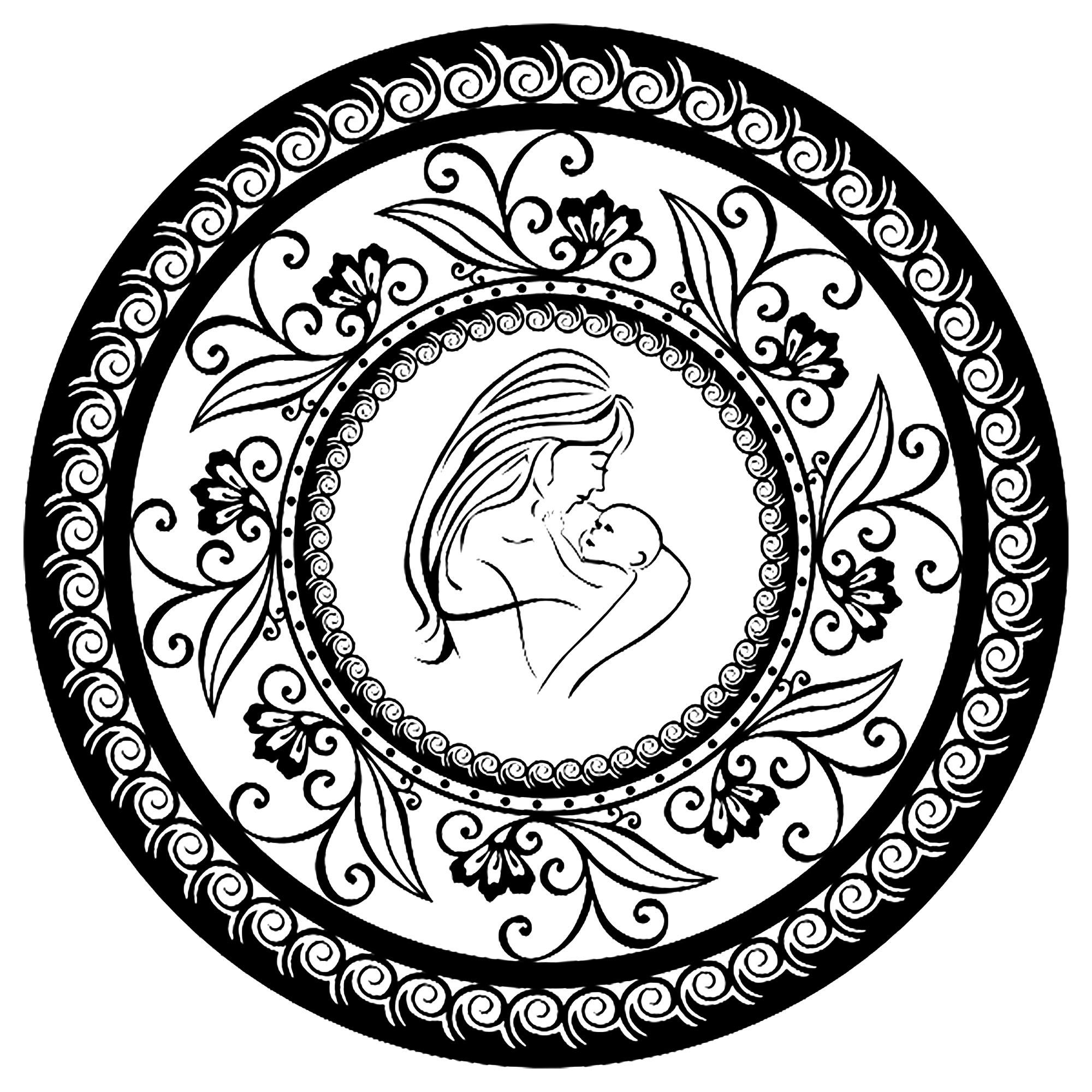 Célébrons la fête des mères à travers ce joli Mandala