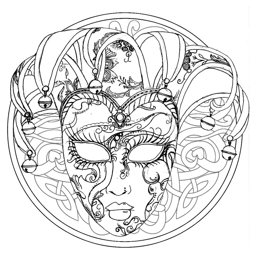 Coloriage adulte venise - Colorier mandala ...