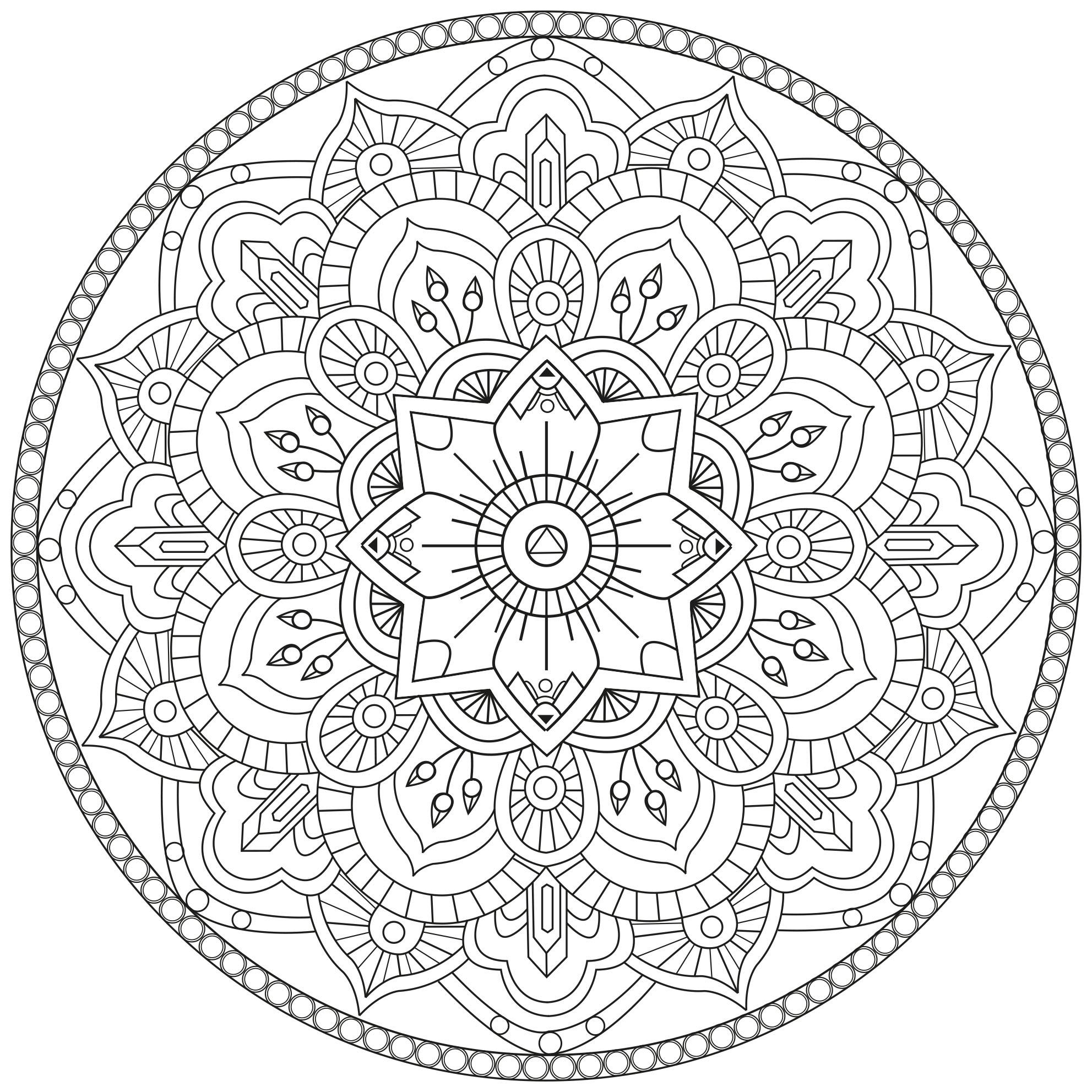 Mandala par pauline mandalas coloriages difficiles - Imprimer coloriage mandala ...