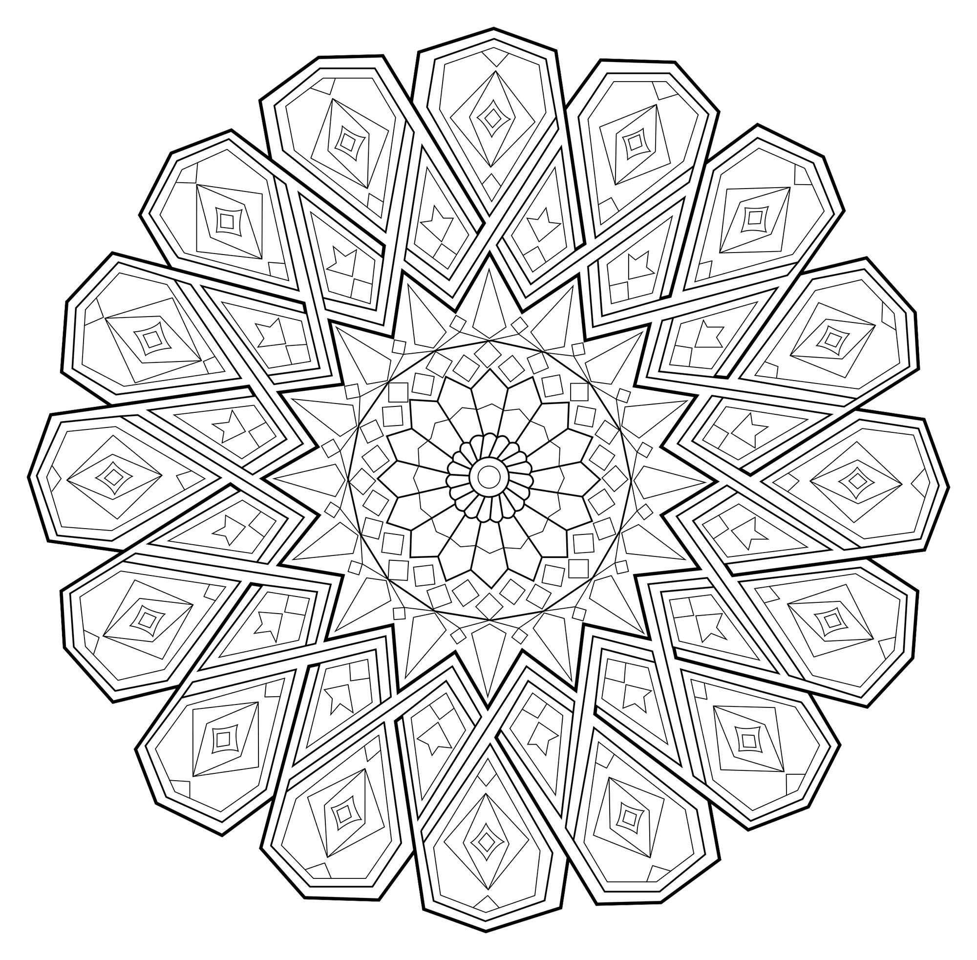 Mandala zen antistress 1 mandalas coloriages - Anti coloriage ...