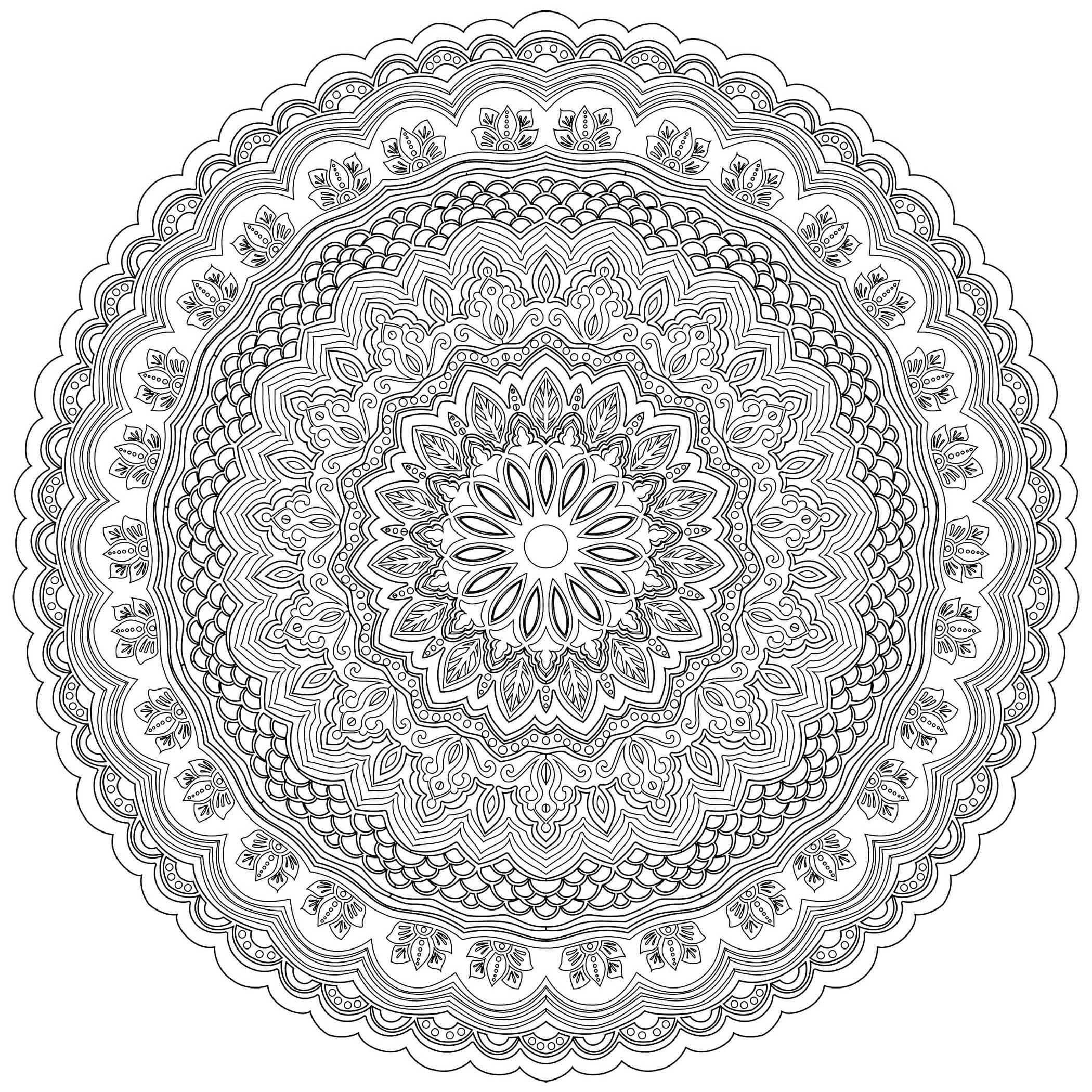 Mandala zen antistress 10 mandalas coloriages difficiles pour adultes - Mandalas a colorier pour adultes ...