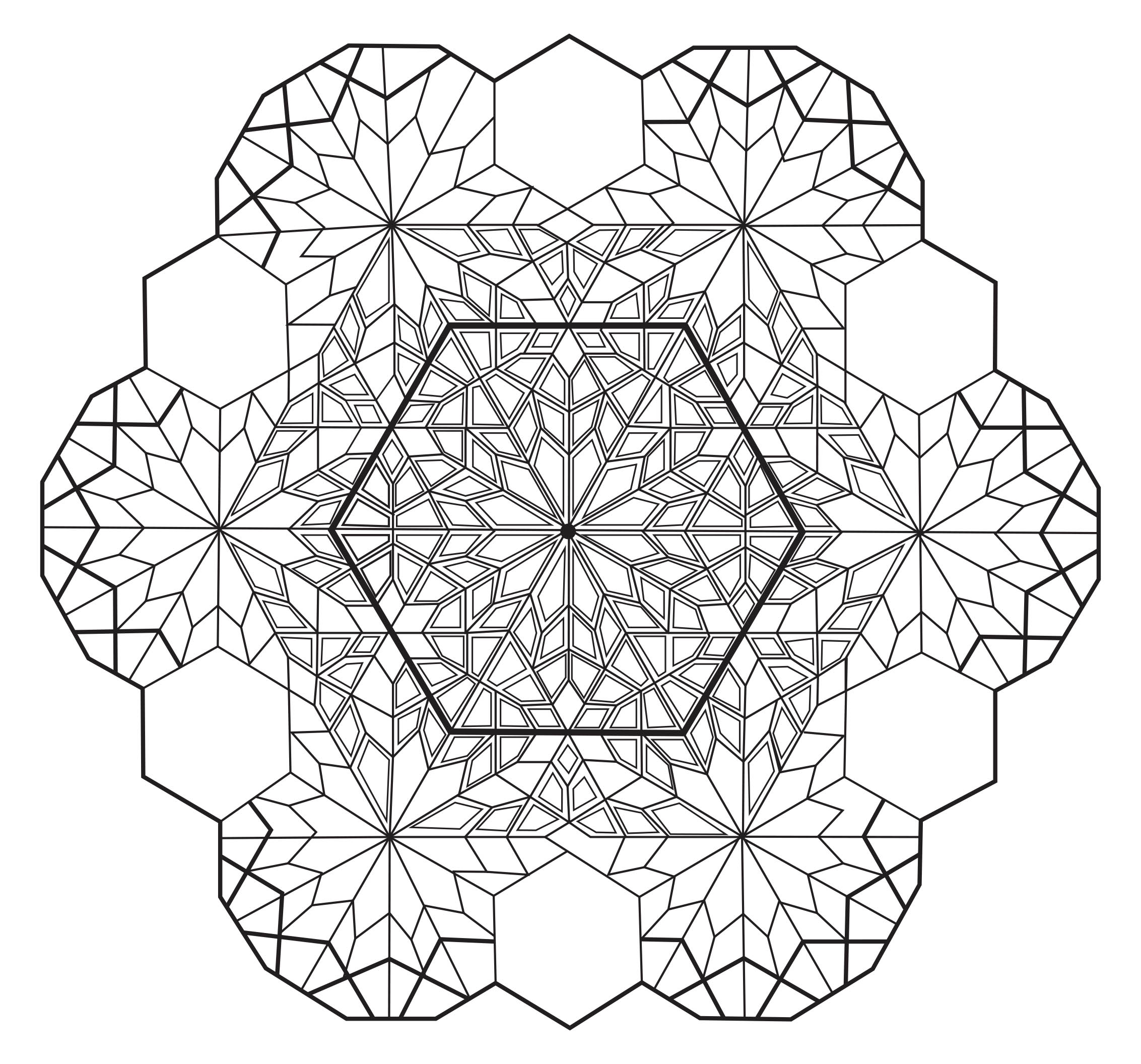 Mandala zen antistress 4 mandalas coloriages difficiles pour adultes - Dessin anti stress mandala ...