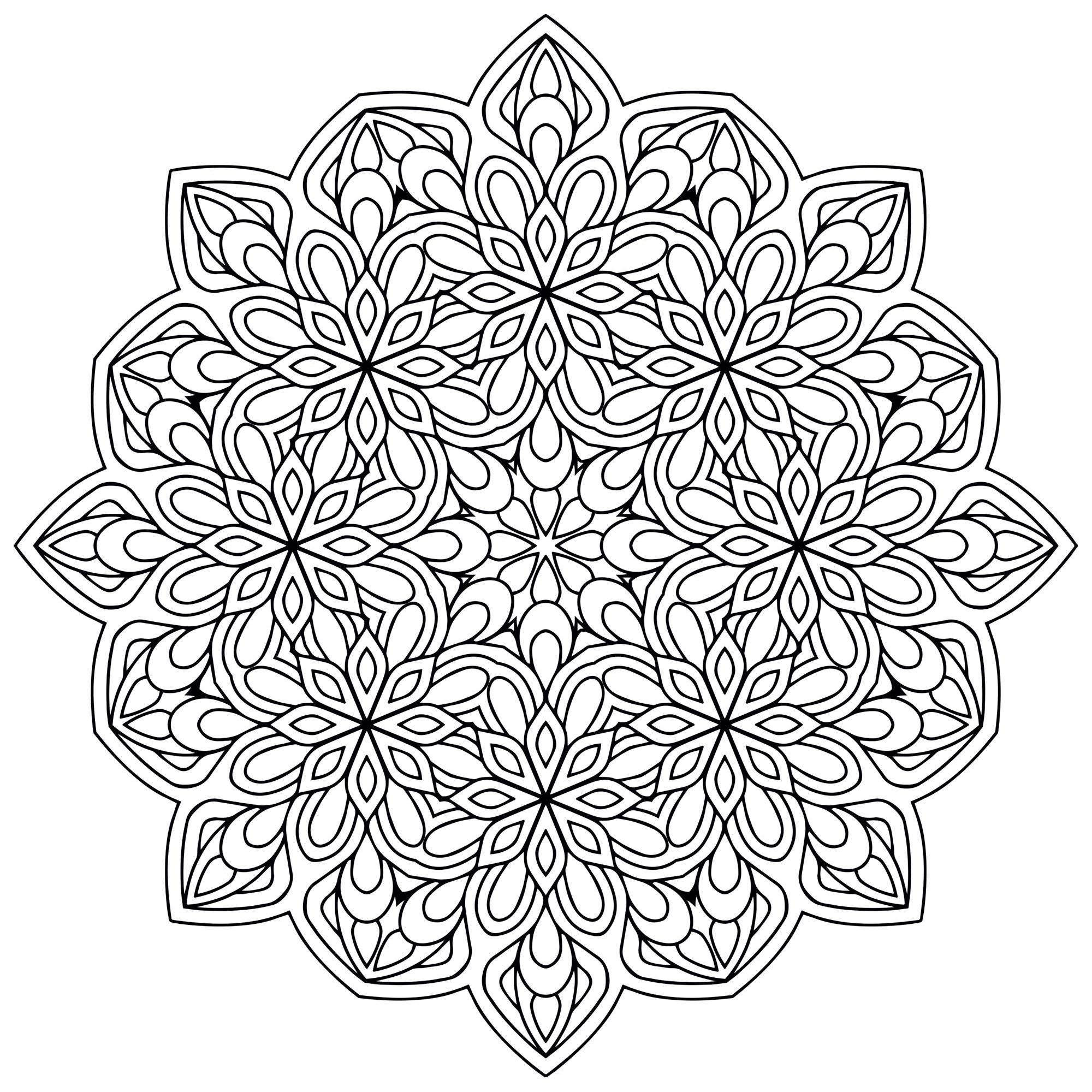 Mandala Zen Antistress 9 Mandalas Coloriages Difficiles