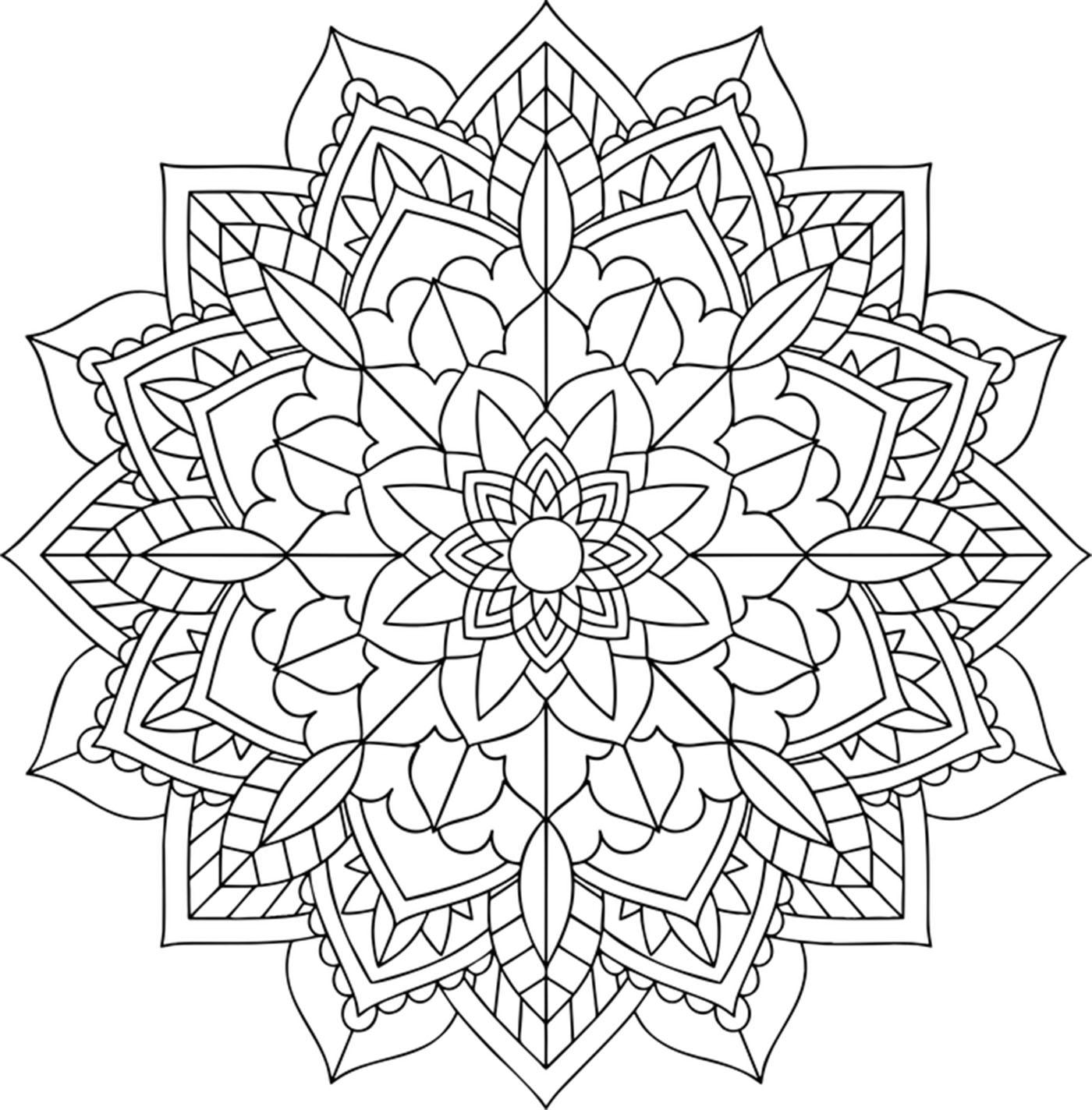 Un simple Mandala au style végétal, qui vous apportera apaisement et bien être.