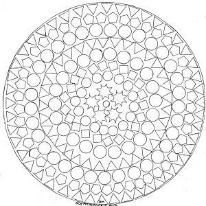 Coloriage adulte mandala domandalas figures geometriques