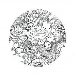 Coloriage mandala cercle par chloe