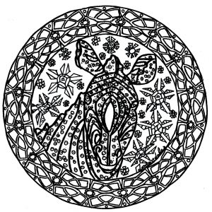 Coloriage mandala zebre complexe