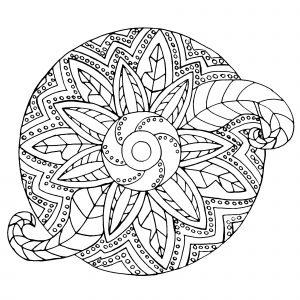 Vegetal / metallic Mandala