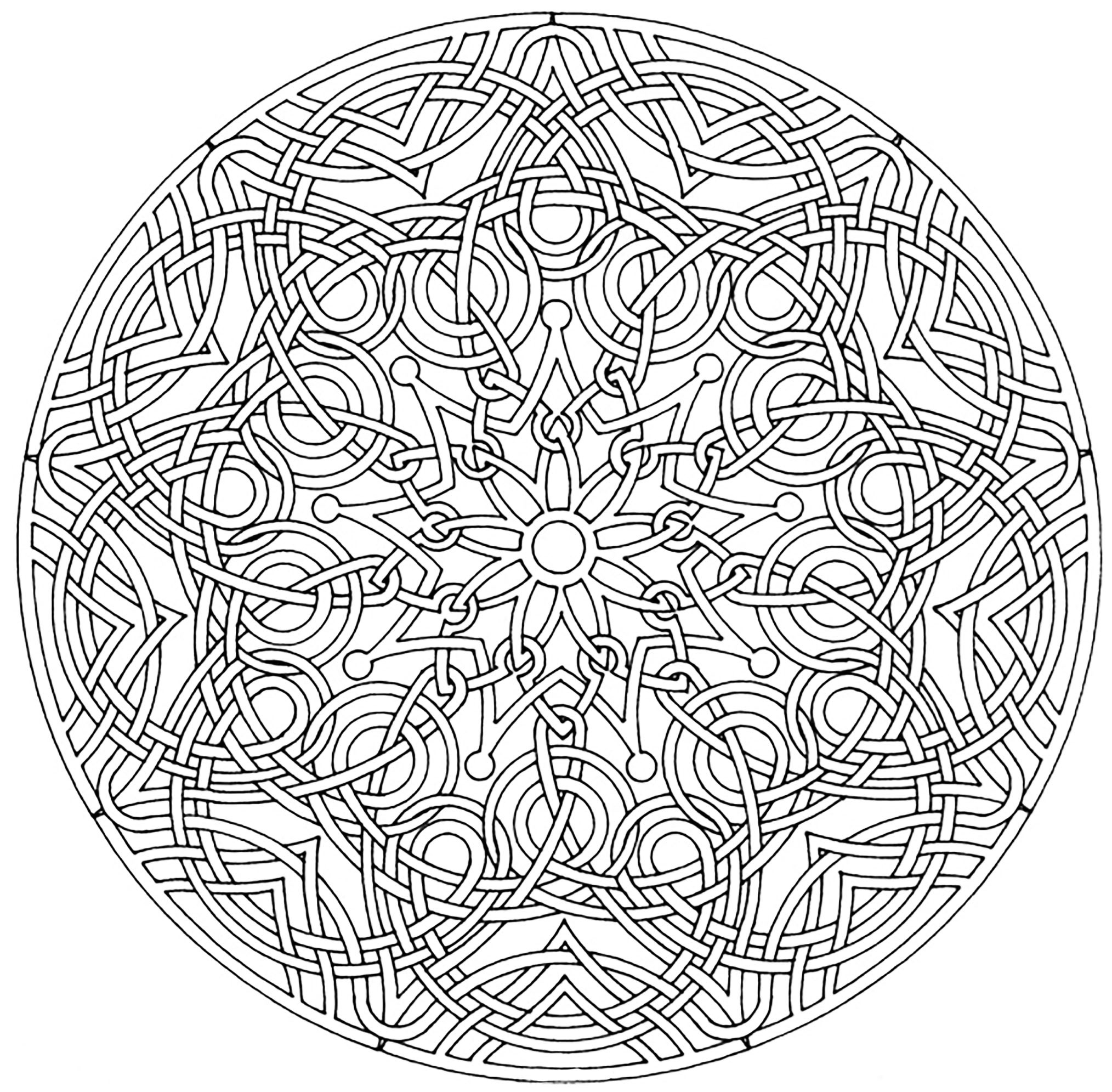 Mandala a colorier royal mandalas coloriages - Mandalas a colorier ...