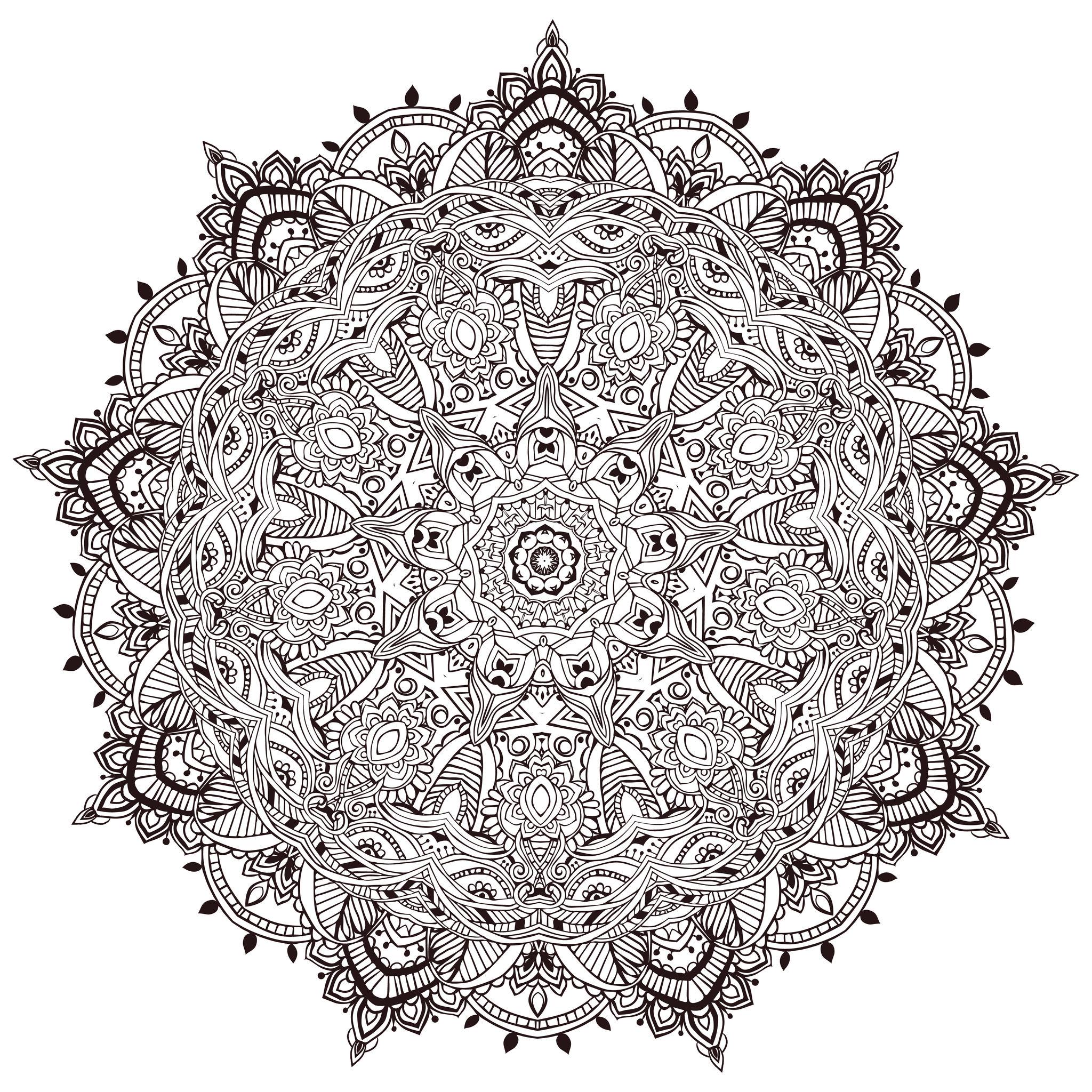 Mandala a colorier tres detaille mandalas coloriages difficiles pour adultes - Mandalas a colorier pour adultes ...