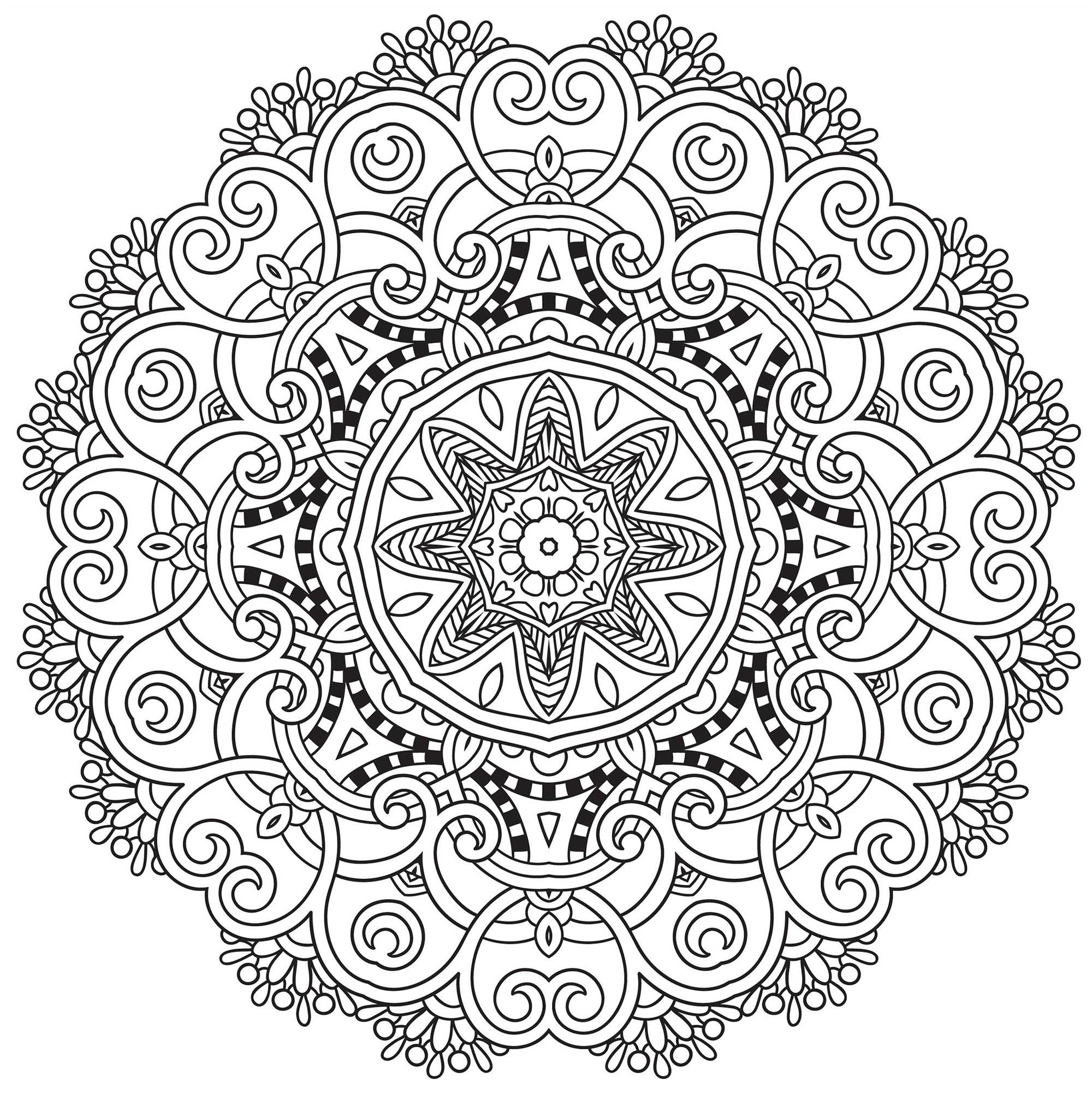 Coloriages de mandalas à imprimer