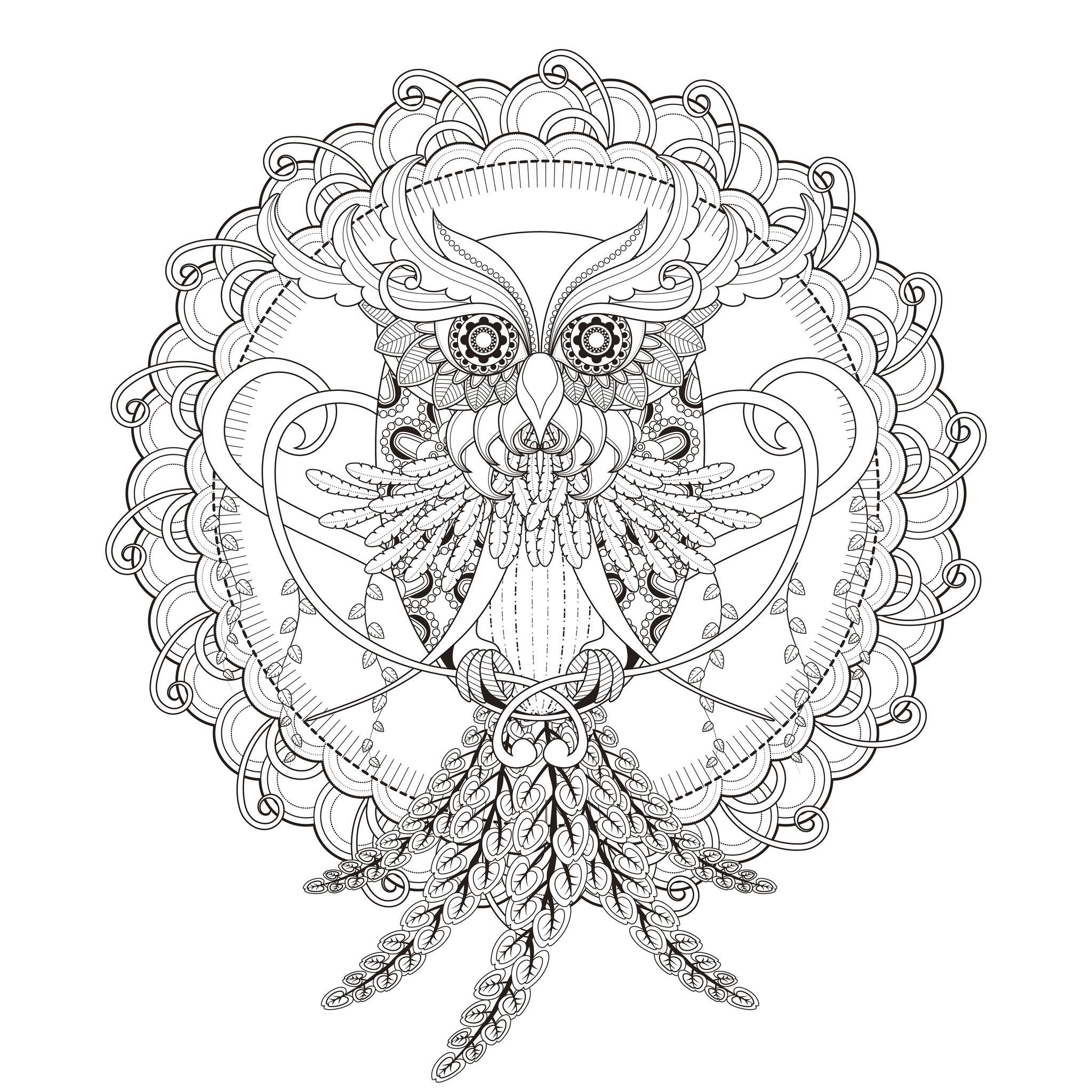 Mandala Chouette Mandalas Coloriages Difficiles Pour Adultes