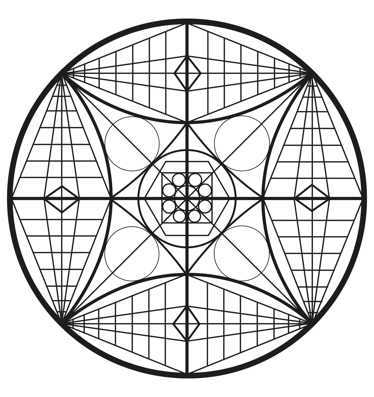 Mandala complexe et abstrait