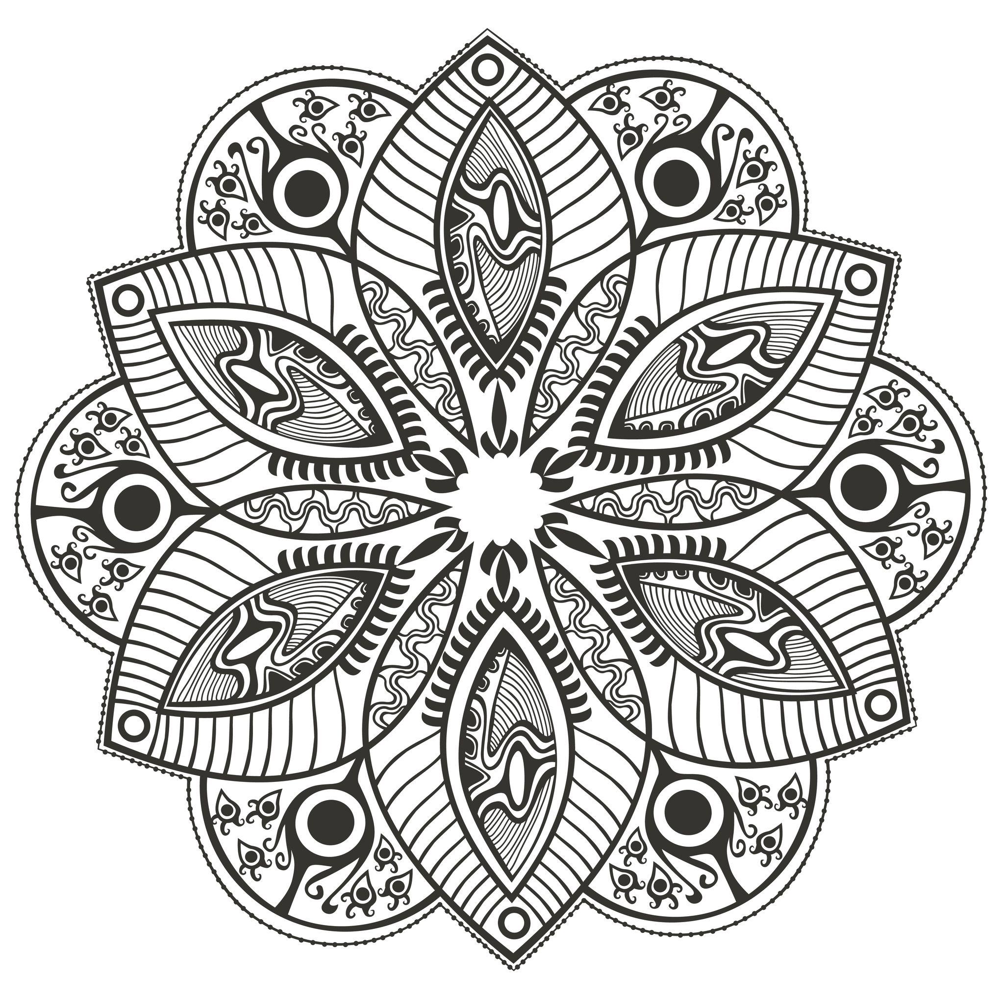 Mandala Fleur Originale Mandalas Coloriages Difficiles Pour