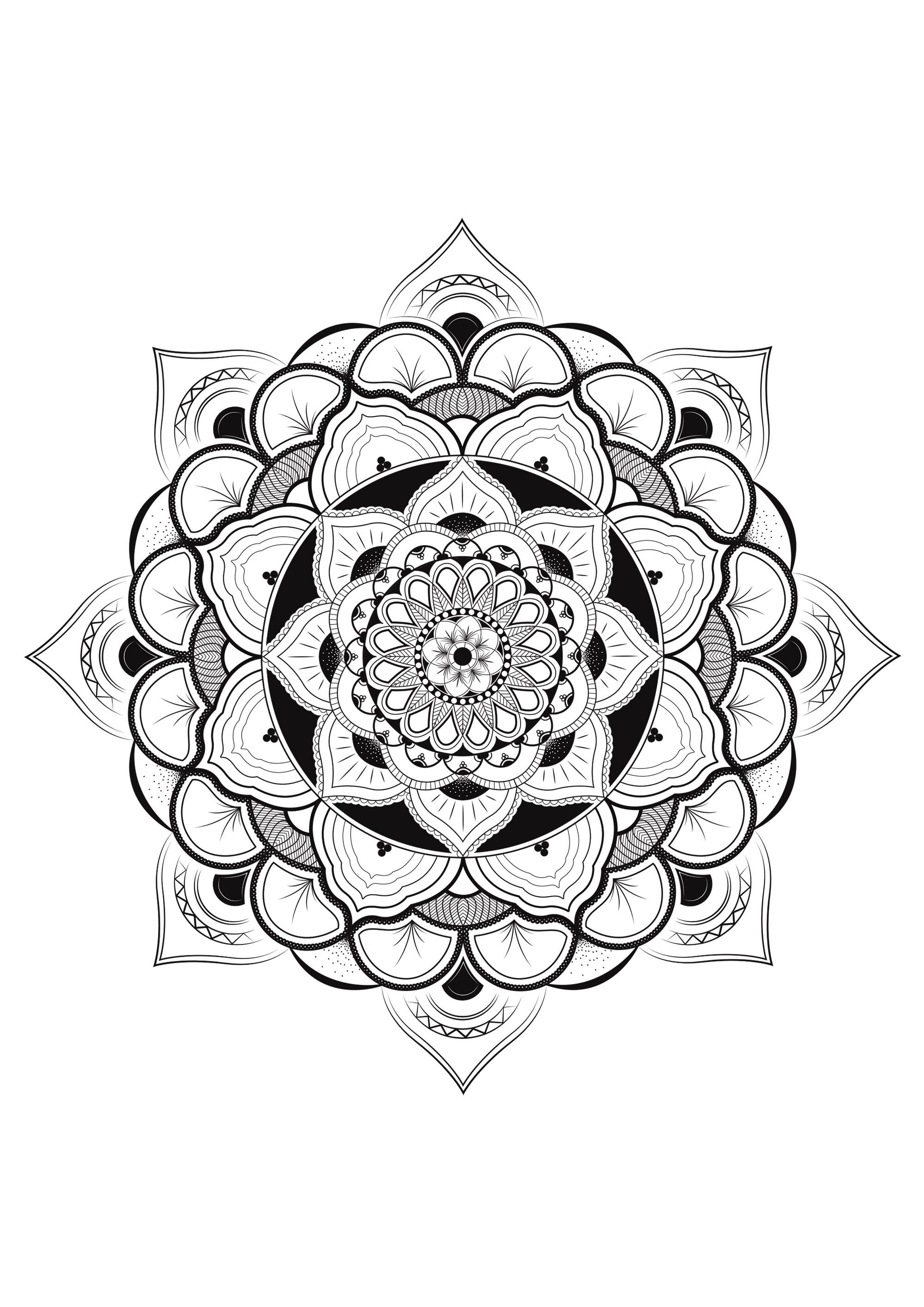 Joli mandala avec beaucoup de détails