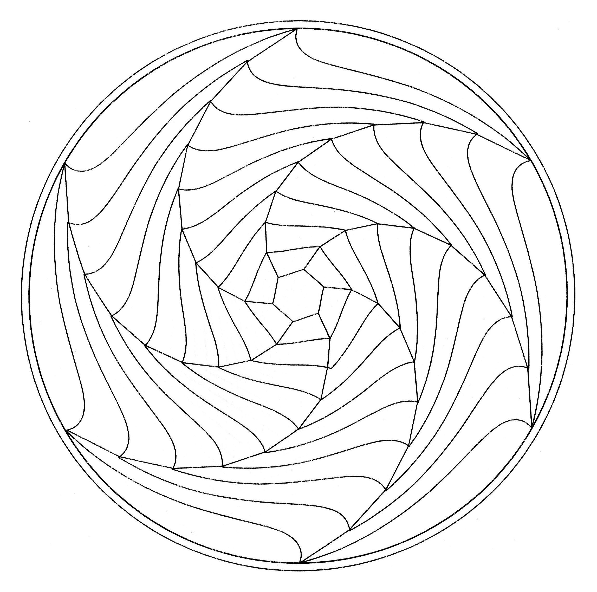 Mandala illusion optique mandalas coloriages - Image mandala a imprimer ...
