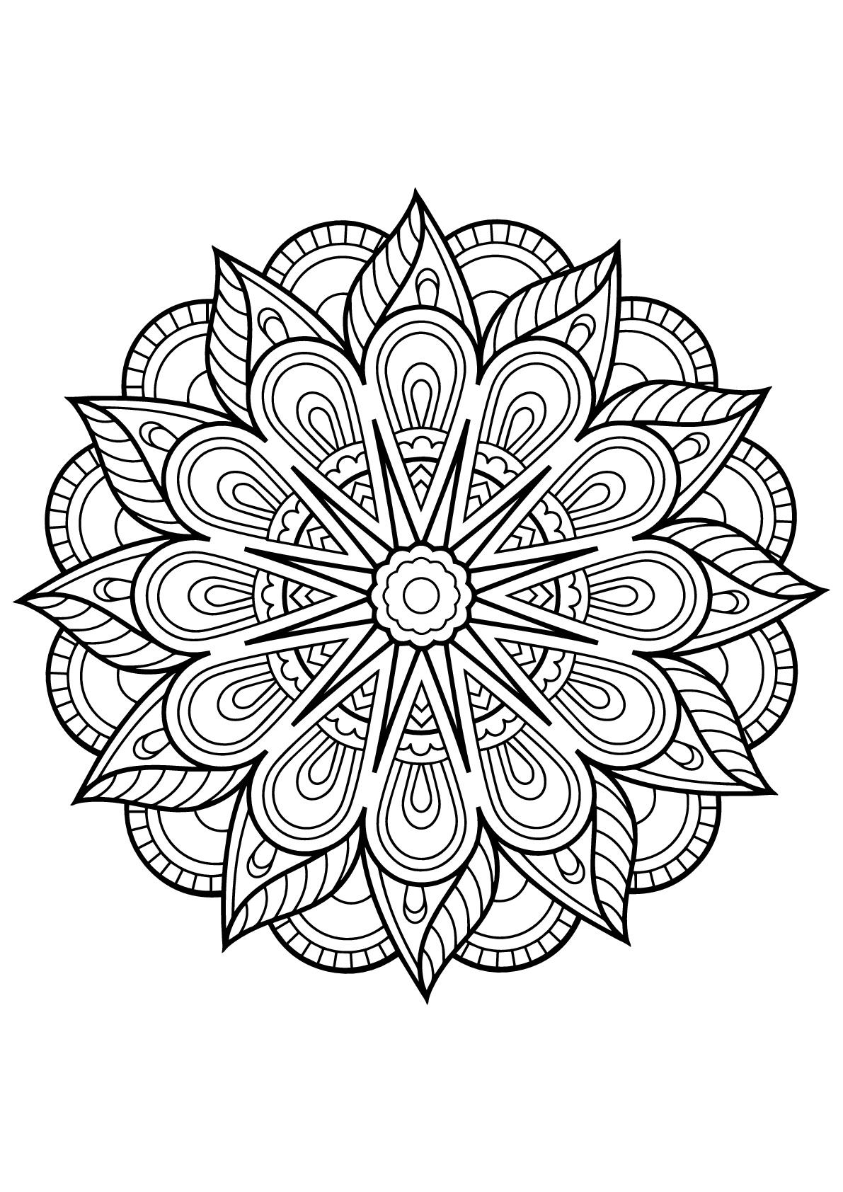 Mandala livre gratuit 1 mandalas coloriages difficiles - Coloriages mandalas ...
