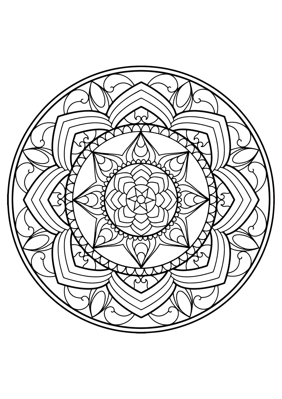 Mandala livre gratuit 13 mandalas coloriages - Coloriage a imprimer mandala gratuit ...