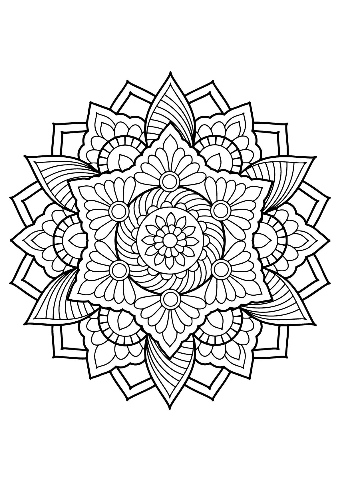 Mandala tiré d'un Livre de Coloriages pour adultes gratuit