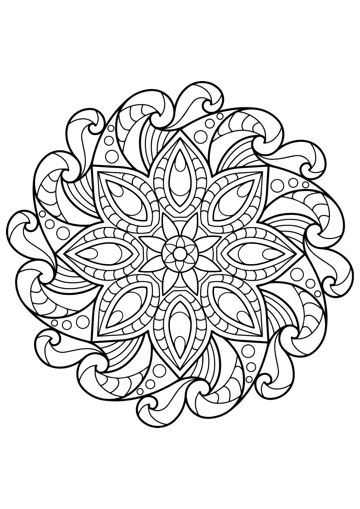 Mandala livre gratuit 2 mandalas coloriages difficiles pour adultes - Mandalas a colorier pour adultes ...