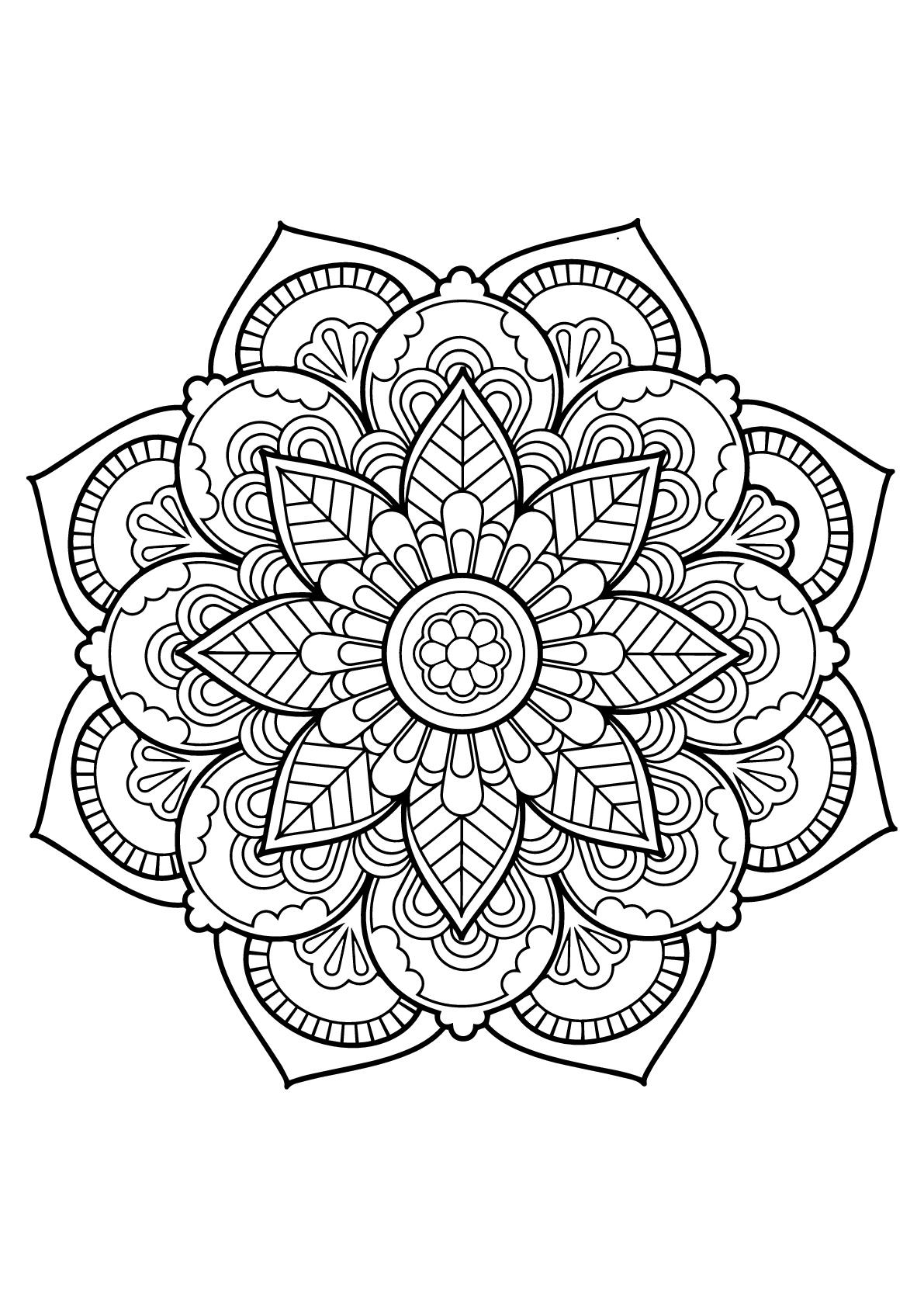 Mandala livre gratuit 22 mandalas coloriages difficiles pour adultes - Dessins de mandala ...