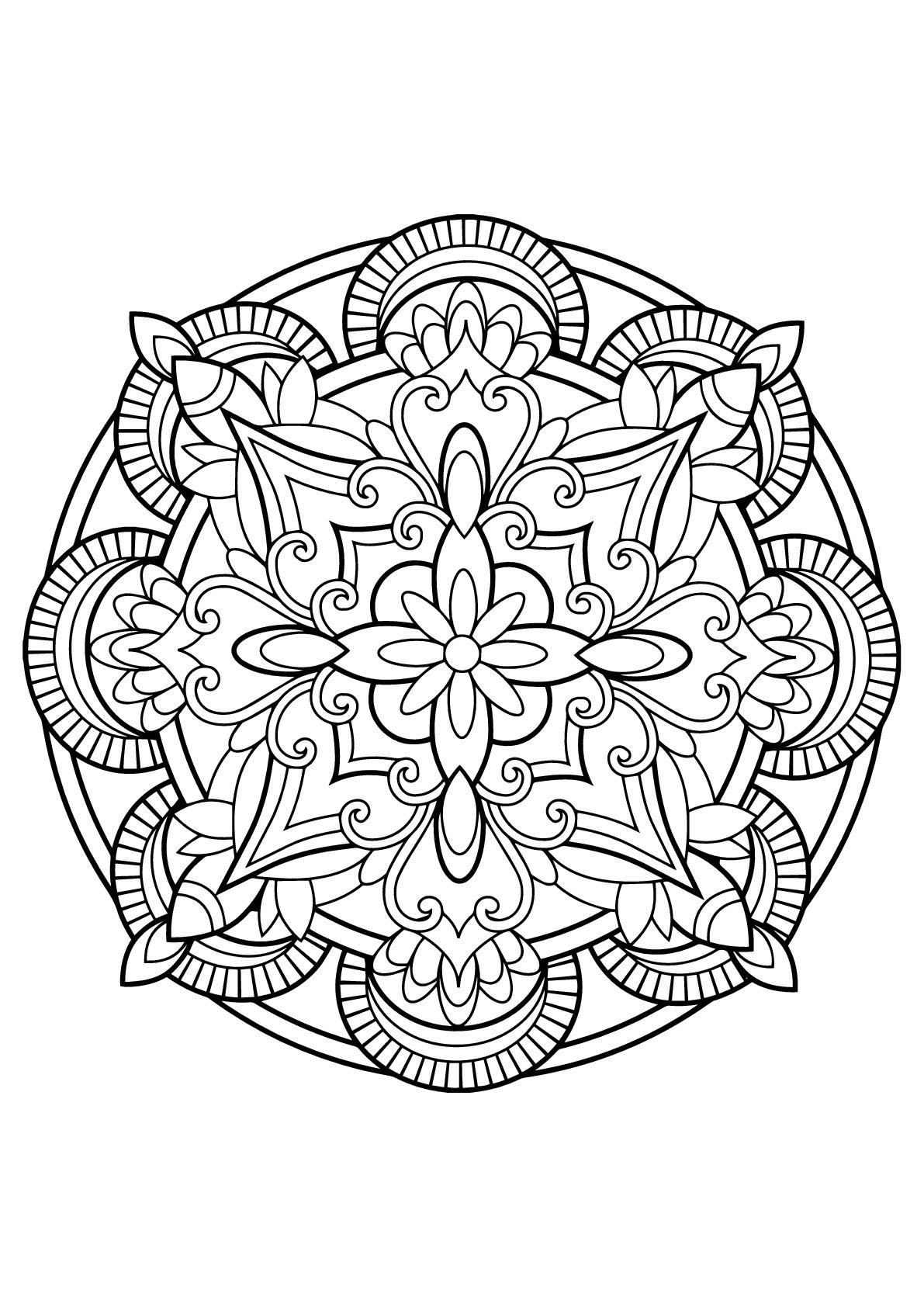 Livre De Coloriage Mandala | Imprimer et Obtenir une Coloriage Gratuit Ici
