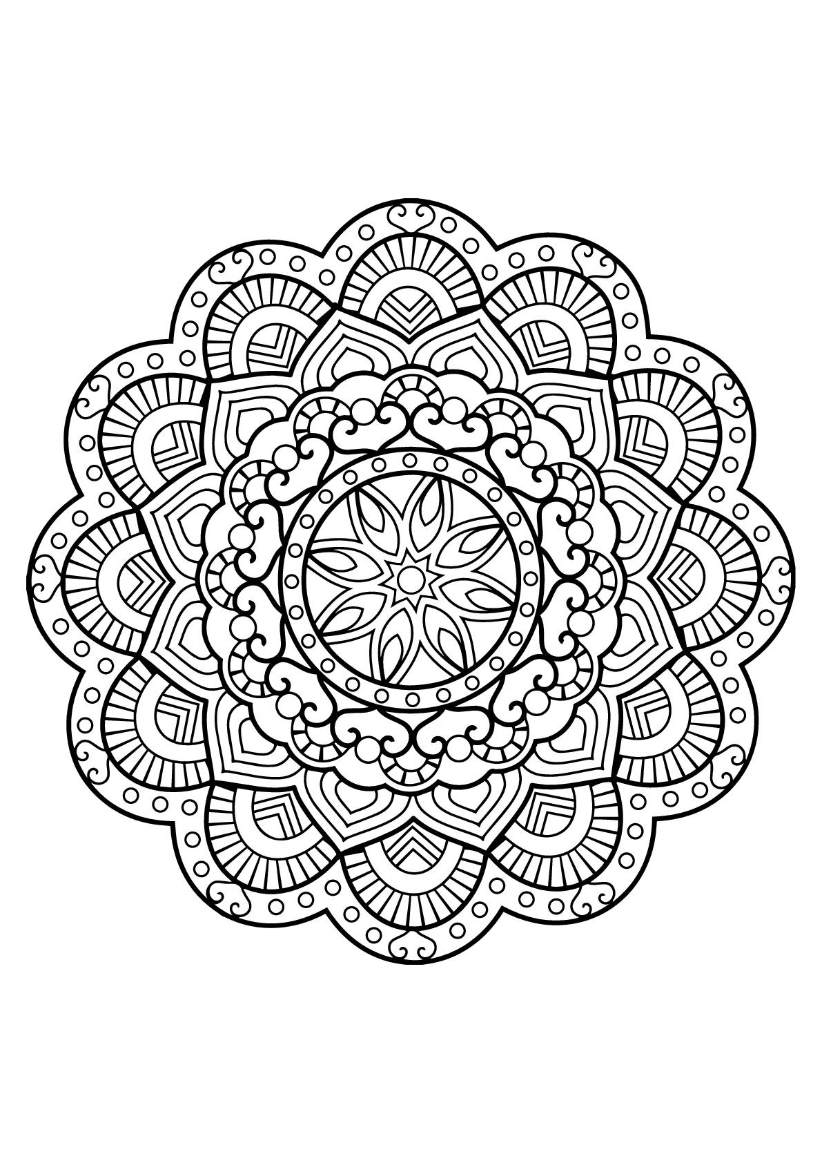 Mandala livre gratuit 26 mandalas coloriages - Coloriages adultes ...