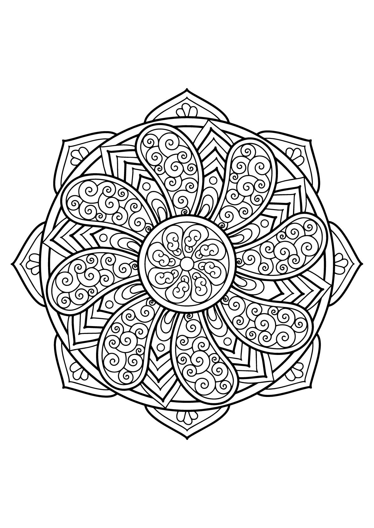 Mandala Livre Gratuit 27 Mandalas Coloriages Difficiles
