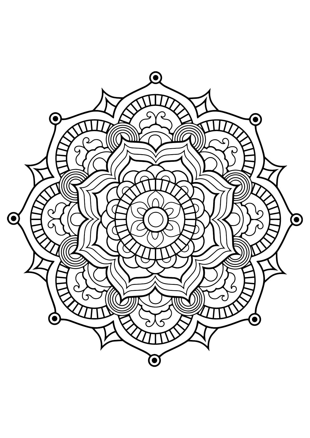 Mandala Livre Gratuit 8 Mandalas Coloriages Difficiles Pour Adultes