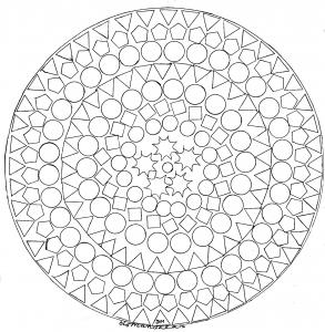 Mandalas coloriages difficiles pour adultes - Coloriage geometrique ...