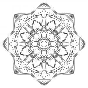 Coloriage adulte mandala mpc design 1