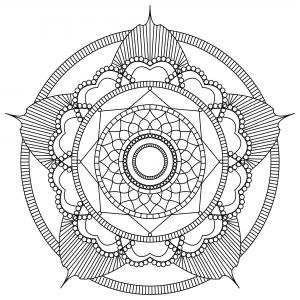 Coloriage adulte mandala mpc design 2
