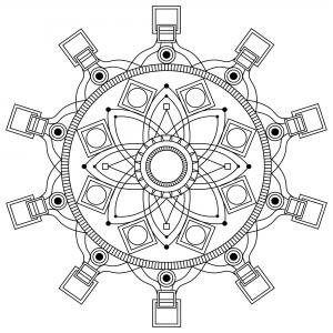 Coloriage adulte mandala mpc design 3