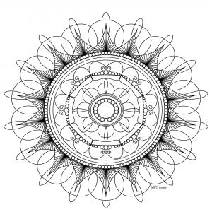 Coloriage adulte mandala mpc design 5
