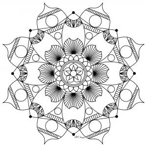 Mandalas coloriages difficiles pour adultes justcolor page 2 - Coloriage fleur 8 petales ...