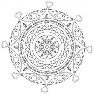 Coloriage adulte mandala mpc design 9